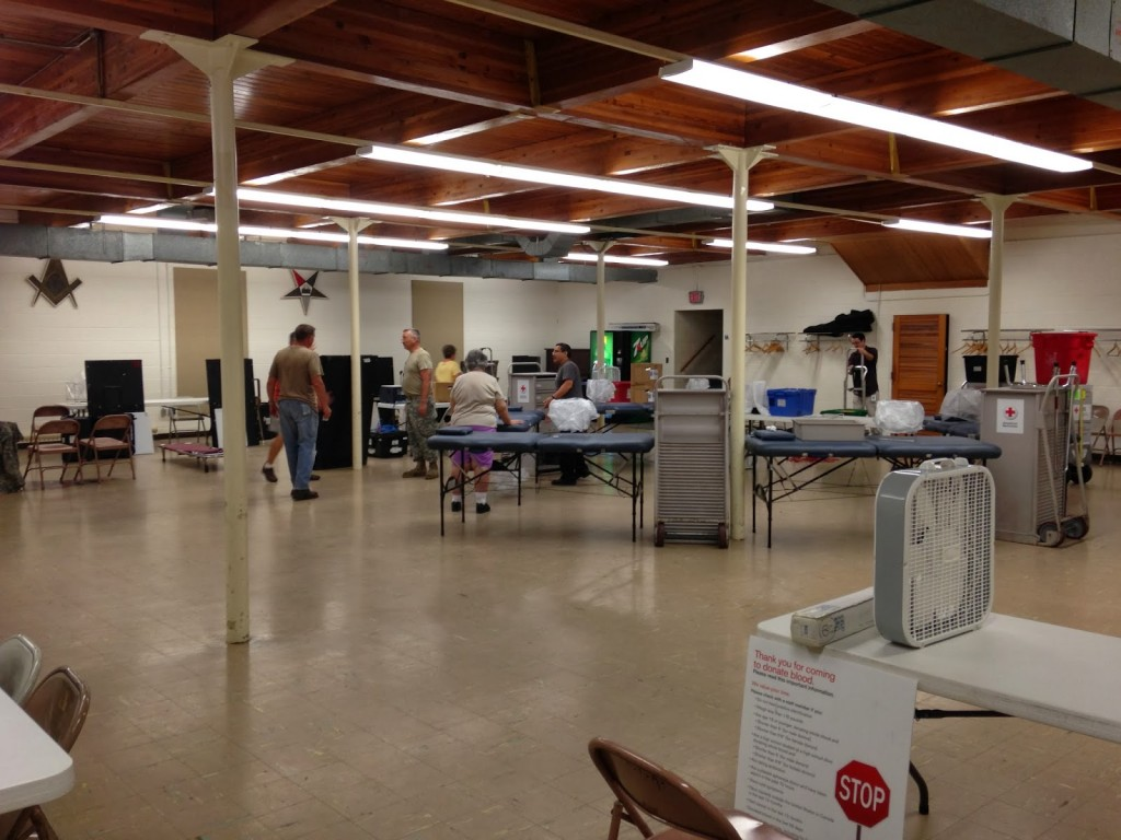 Blood Drive at the Lodge.